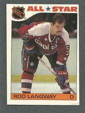 1985-86 Topps Hockey All-Star Sticker Rod Langway #10 Washington Capitals