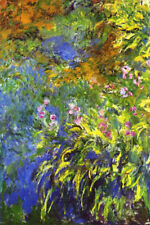 Claude Monet Iris at the Water-Lily Pond 2 Art Print Poster Poster Print, 13x19
