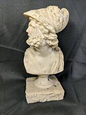 Athena Marble Roman Style Bust 9 inch tall Roman Warrior Athena Marble