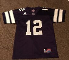 Youth M Northwestern Purple Russell Athletic Football Jersey