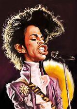 Prince Purple Rain Caricature Pop Rock Sticker or Magnet