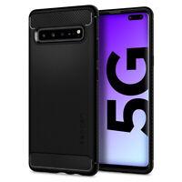 Galaxy S10 5G Spigen® [Rugged Armor] Matte Black Shockproof Slim Case Cover