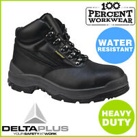 Pro Heavy Duty Comfortable Quality Work Safety Boots Steel Toe Cap Padded Ankle