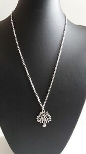"""TREE OF LIFE PENDANT CHARM ON 20"""" SILVER TONE CHAIN  NEW BAGGED"""
