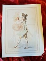 Old Q - Thomas Rowlandson  - Vintage Book Print