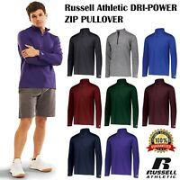 Russell Athletic Mens Dri-Power Lightweight Zip Pullover 100% Polyester QZ7EAM