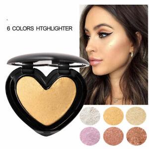 Highlighter Palette Face Concealer Shimmer Brightening Powder Eyeshadow Makeup#F