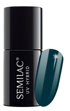 Semilac UV LED Hybrid Nail Polish 7ml - Choose Your Shade From 60th to 107th 074 Prussian Blue