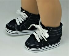 SNEAKERS NAVY BLUE FOR 18 IN AMERICAN GIRL BOY DOLL SHOES ACCESSORY