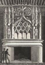 CÔTE-D'OR. Cheminée de la salle des Gardes 1835 old antique print picture