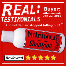 Nutrifolica Regrowth Shampoo Growth Hair Loss & no Minoxidil bad side effects