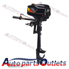 2 Stroke 3.6HP Heavy Duty Outboard Motor Boat Engine w/Water Cooling System