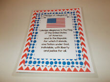 Single Laminated Pledge of Allegiance Classroom Poster Sign. 8.5 X 11 inch