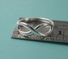 Size 8 3/4 Tiffany & Co. Ring Sterling Silver 925 Infinity Ring Band T & Co