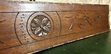 Flower rosette decorative carving pediment Antique french architectural salvage