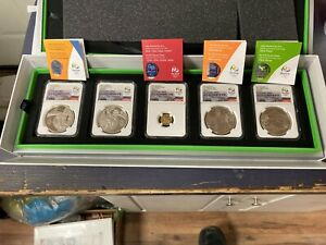 Brazil 2015 Gold/Silver 5 Coin Proof Set NGC PF70UC Rio 2016 Olympics Series 2