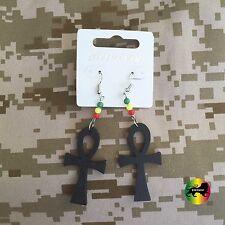 Ankh Cross Rastafari Symbol Of Eternal Life Jah Earrings Reggae Jamaica IRIE