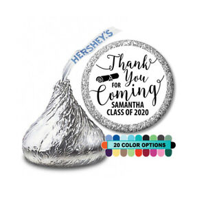 Thank you for coming! Graduation Personalized Party Favor Hershey Kiss Label
