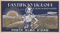 ETICHETTA PASTIFICIO LIGUORI, GRAGNANO, NAPOLI 1920 CIRCA-Q80