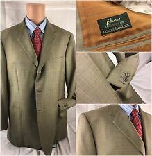 Brioni Blazer 44R Tan 100% Wool Surgeon Cuffs 3btn 2 vent 44 R Italy YGI CN4