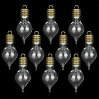Ein Glasfläschchen 1 Stck Phiole,3 D Herz mit Metall Kappe Farbe Silber