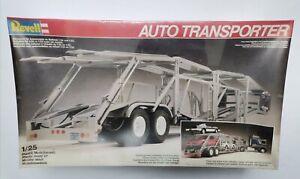 Auto Transporter trailer Anhänger Revell #7424 1983 1:25 neu in Folie