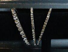 Crystal Space Gray Bangle Bracelet Set Of 3