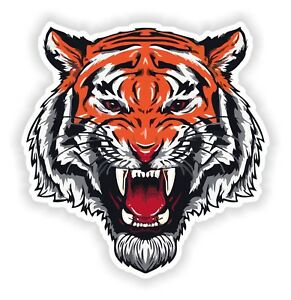 Angry Tiger Sticker for Bumper Truck Laptop Baggage Suitcase Tablet Helmet