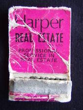 S.J. HARPER REAL ESTATE RESI & MLB WANTIRNA 2314422 BAYSWATER MATCHBOOK