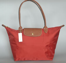 New Longchamp Le Pliage Deep Red Tote Bag L