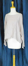BRYN WALKER PALE DUSTY PINK LIGHT WEIGHT LINEN LONG SLEEVE TIE BACK CROP TOP L
