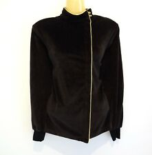 Stunning super-luxe chocolate velvet cardi by high-end brand LIZ CLAIBORNE  sz10 ccf57e6d5