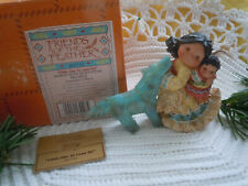 Friends Of The Feather Little One To Lean On 1996 Enesco Wolf Fetish & Girl