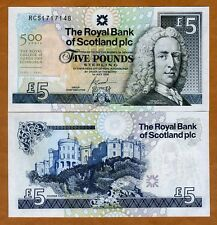 Scotland Royal Bank, 5 pounds, 2005, P-364, UNC > Commemorative 500 years RCS
