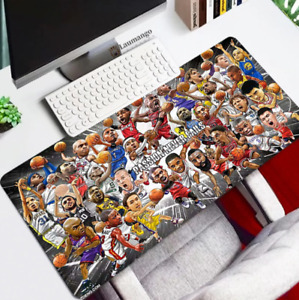 Extended Computer PC Gaming Keyboard Mouse Desk Pad Mat NBA Basketball Team Star