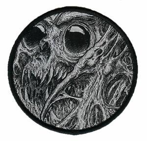 Spud Tattoo Round Woven Patch. Skulls. Skull. Horror Artwork