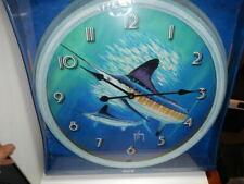 "Guy Harvey 25"" Wall Clock, NEW, Marlin,  Distressed Tin frame"