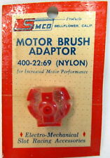 1960's Simco 400-22 MOTOR BRUSH ADAPTOR Nylon 16D Mabuchi Motor slot cars NOS