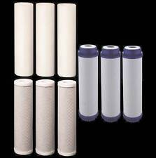 """9 Reverse Osmosis RO Water Filters 3 Sets of 2.5"""" x 9.75"""" Post Filter Cartridges"""