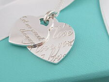 """Tiffany & Co Silver Heart """"Let me Count the Ways I Love You """" Heart Necklace"""