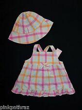 Gymboree By The Seashore Layette Girls Pink Lot Swing Shirt Top Hat Set 18 24