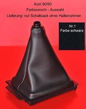 Schaltsack Schaltmanschette Audi 80 90 B3 B4 ECHTLEDER 17 Farben für Schaltknauf