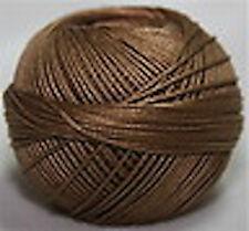 Lizbeth Cordonnet Cotton Thread -Size 3 Color 691 Medium Mocha Brown