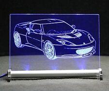 Lotus Evora S  3,5  V6  als Gravur auf LED-Leuchtschild Traum Geschenk