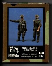VERLINDEN 653 - FELDGENDARM & INFANTRYMAN (2 Figures) - 1/35 RESIN KIT NUOVO