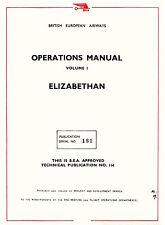 AIRSPEED AS.57 ELIZABETHAN ( CENTAURUS ) - BEA OPERATIONS MANUAL VOLUME 1 - 1956