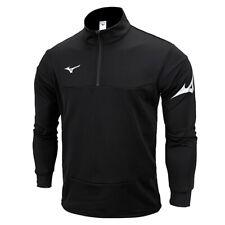 Mizuno Half-Zip Warm Up Training Shirts Men's Long Sleeve Black P2MC9K5209