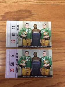1961 NOTRE DAME FOOTBALL TICKET STUBS HOME