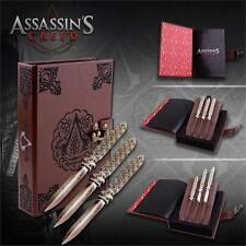 Officially Licensed Assassins Creed Aguilar Throwing Knife Set 3 Knives & Box