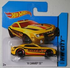 HW City '10 Camaro SS Fire Department 22 yellow SHORT CARD